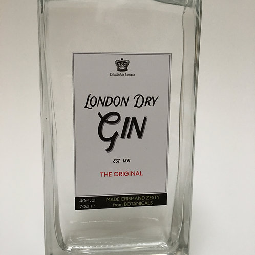 Gin Rectangle Bottle label  - A4 digital Print file