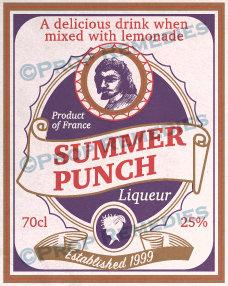 Summer Punch bottle label
