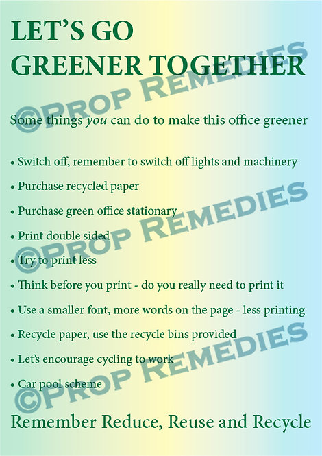 Greener Office Poster