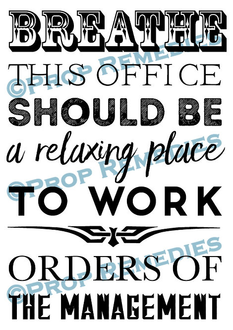 Relax office Poster