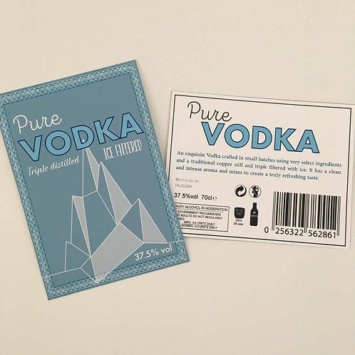Vodka 2 bottle Label