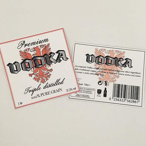 Vodka Bottle label - A4 digital Print file