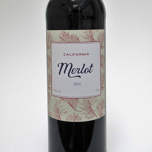 Merlot - Red wine label