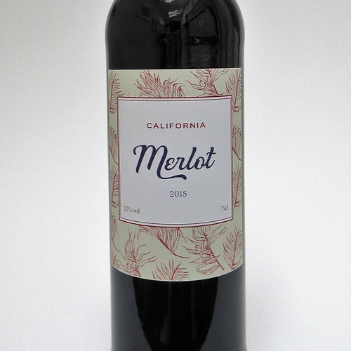 Prop Remedies  Graphic Props  Merlot  Red Wine Label