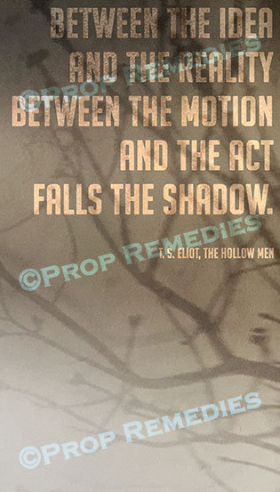 Shadow Quote Poster