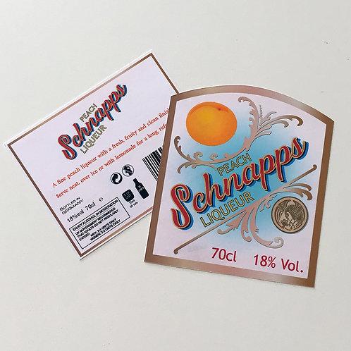 Schnapps 2 bottle Label