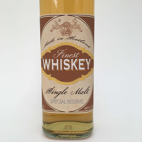 Single Malt Whiskey Bottle label - A4 digital Print file