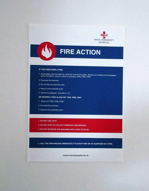 Fire Action Poster