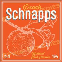 Schnapps 1 bottle Label