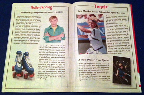 80s Sports Magazine pages