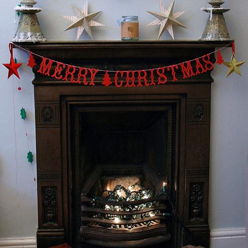 Christmas letter bunting banner