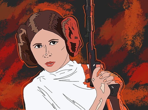 'Leia' Print