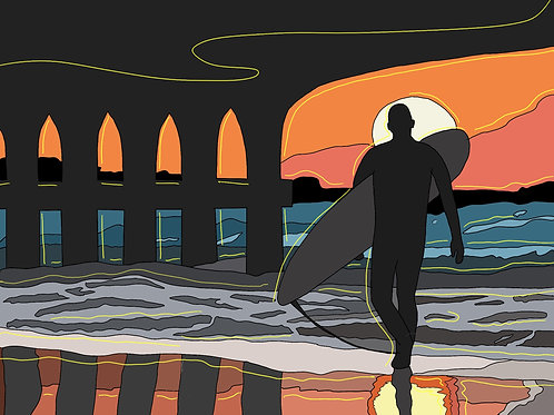 'South Coast Surfer' Print