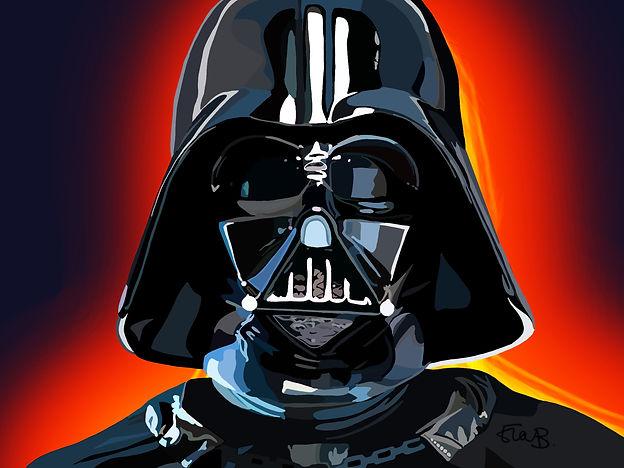 Darth Vader, Darth Vader print, darth vader artwork, print, gift personalised print, starwars, star wars, Eva B Prints