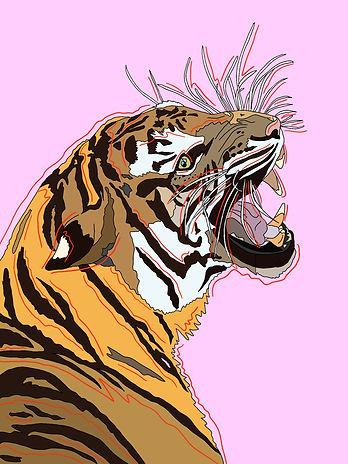 tiger print, animal print, animal, tiger art, artwork, bedroom, wall art, wall decor, personalised prints, prints, Eva B Prints