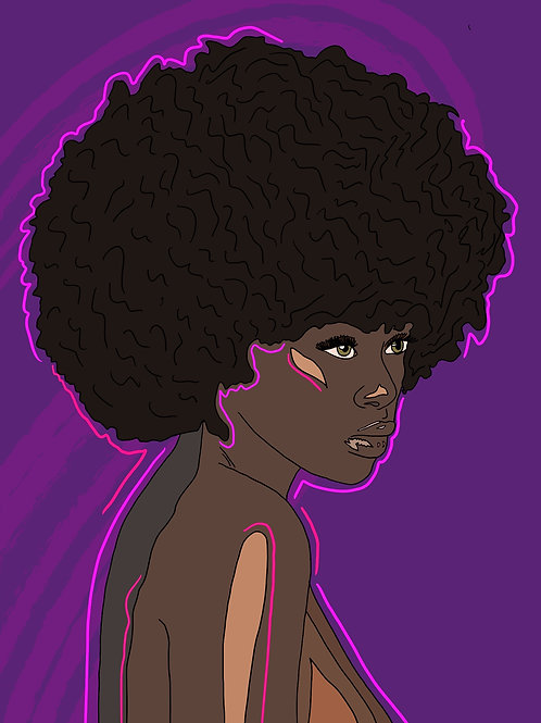 'Power of the 'Fro' Print