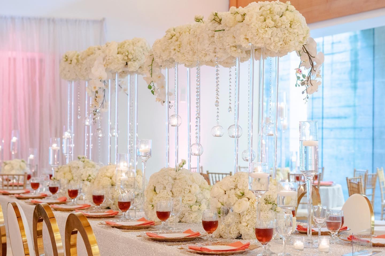 Luxe floral bridge arrangements
