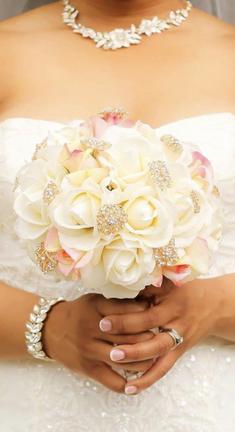 Blush and Ivory Blush Bouquet