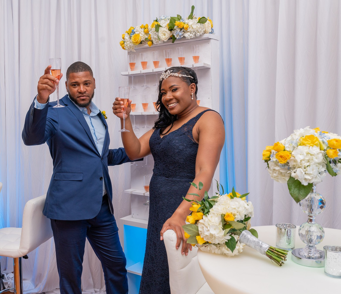 To the Bride and Groom....cheers!