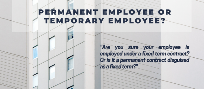 Are you sure your employee is a temporary employee?