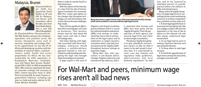Taking stock of new legal challenges in business (Malaysian Reserve, 18.2.2016 Issue)