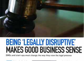 Being 'Legally Disruptive' Makes Good Business Sense (Business Today Magazine, December 2015