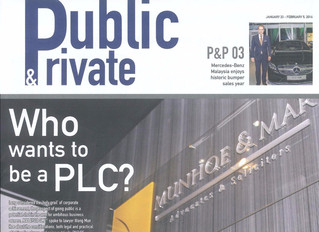 Who wants to be a PLC (Malaysia SME, 23.1.2016 - 5.2.2016 Issue, Public & Private Pullout)