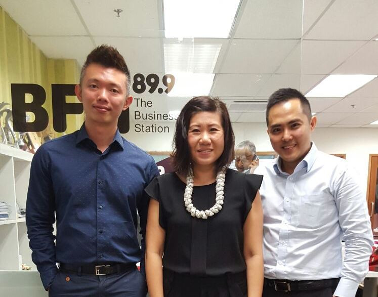 Mun Hoe, Keith Goh with Maya, interview on 'Disrupting Businesses Legally' at BFM 89.9