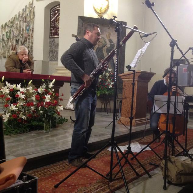 Michal Wawrzyniak recording in Warsaw, Poland