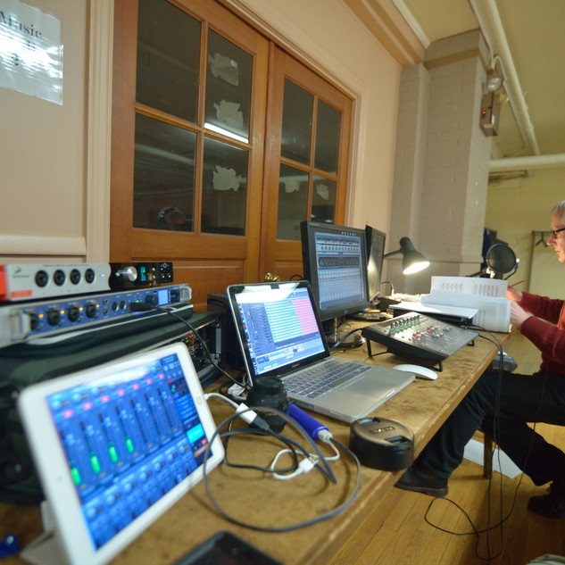 Control room for YSC Session.