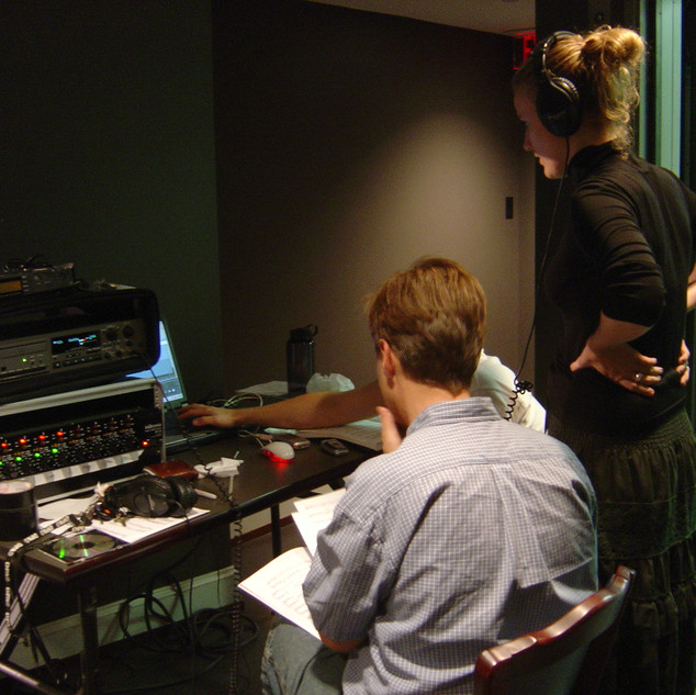 Control room in Yale School of Music