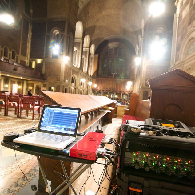 Setup in St. John Divine, NYC