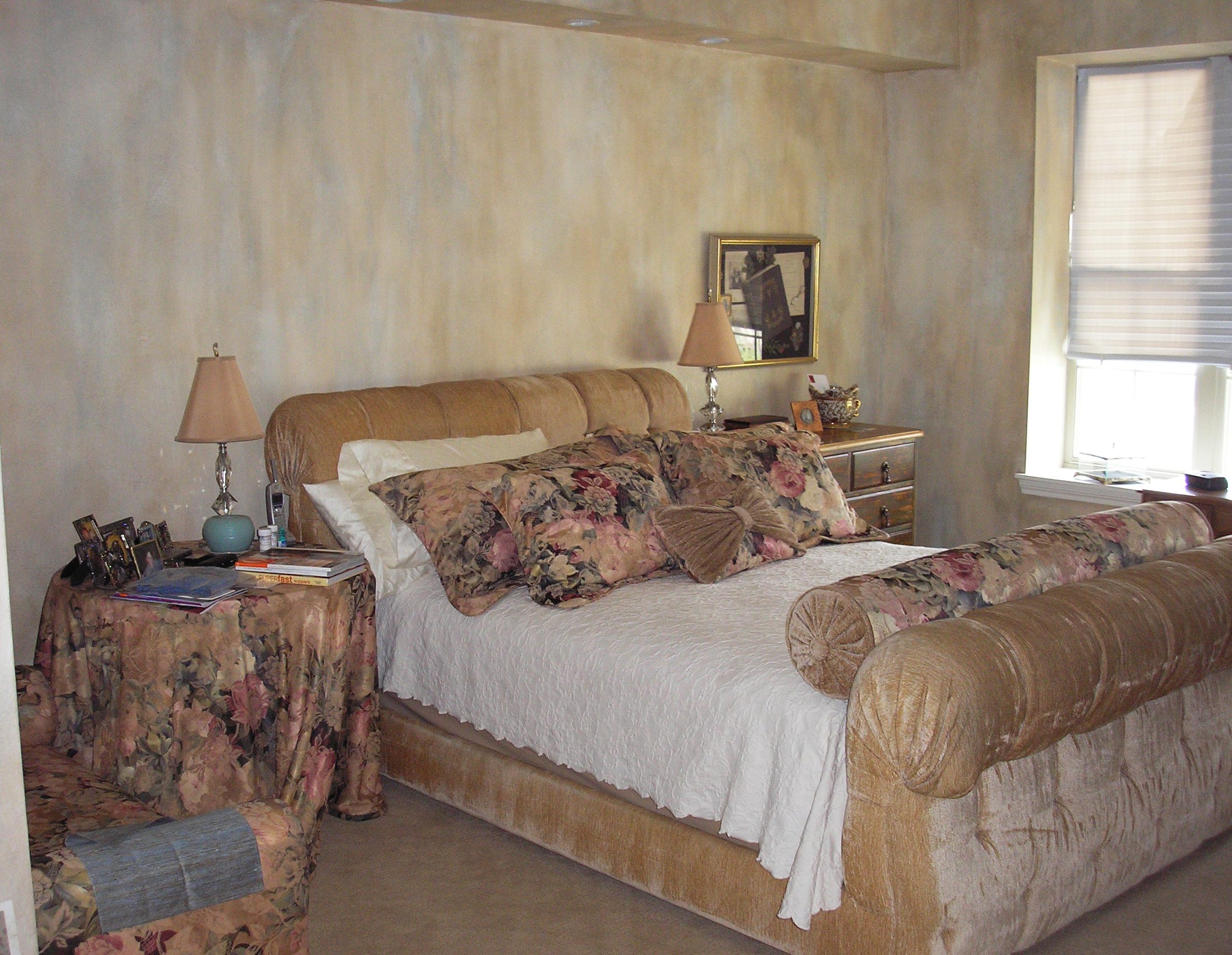 Painted Master bedroom