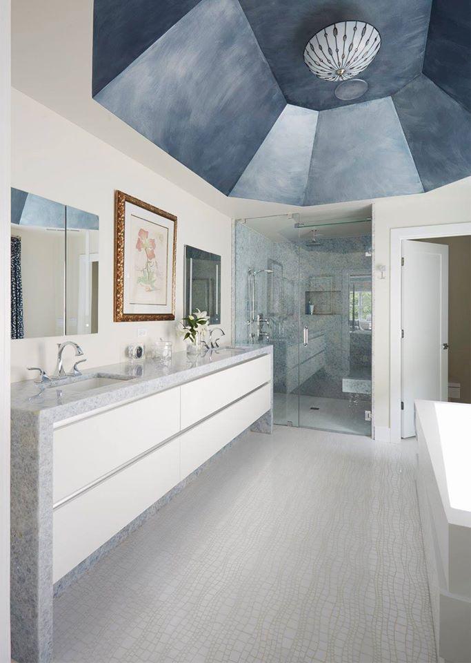 Metallic Bath Ceiling
