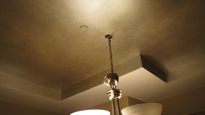 Bronze ceiling