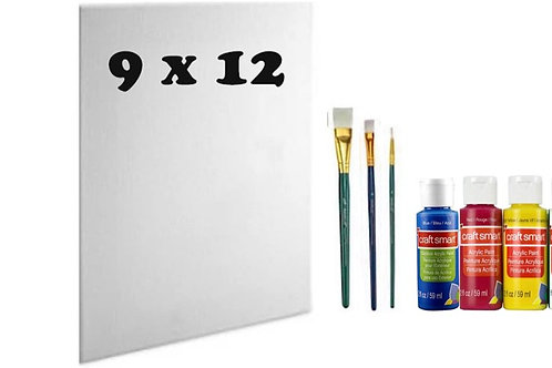 Art Kit with 9x12 Canvas