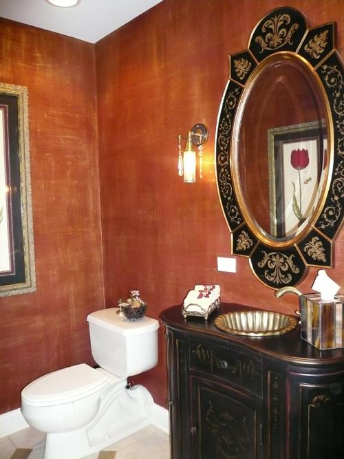 Red Silk walls