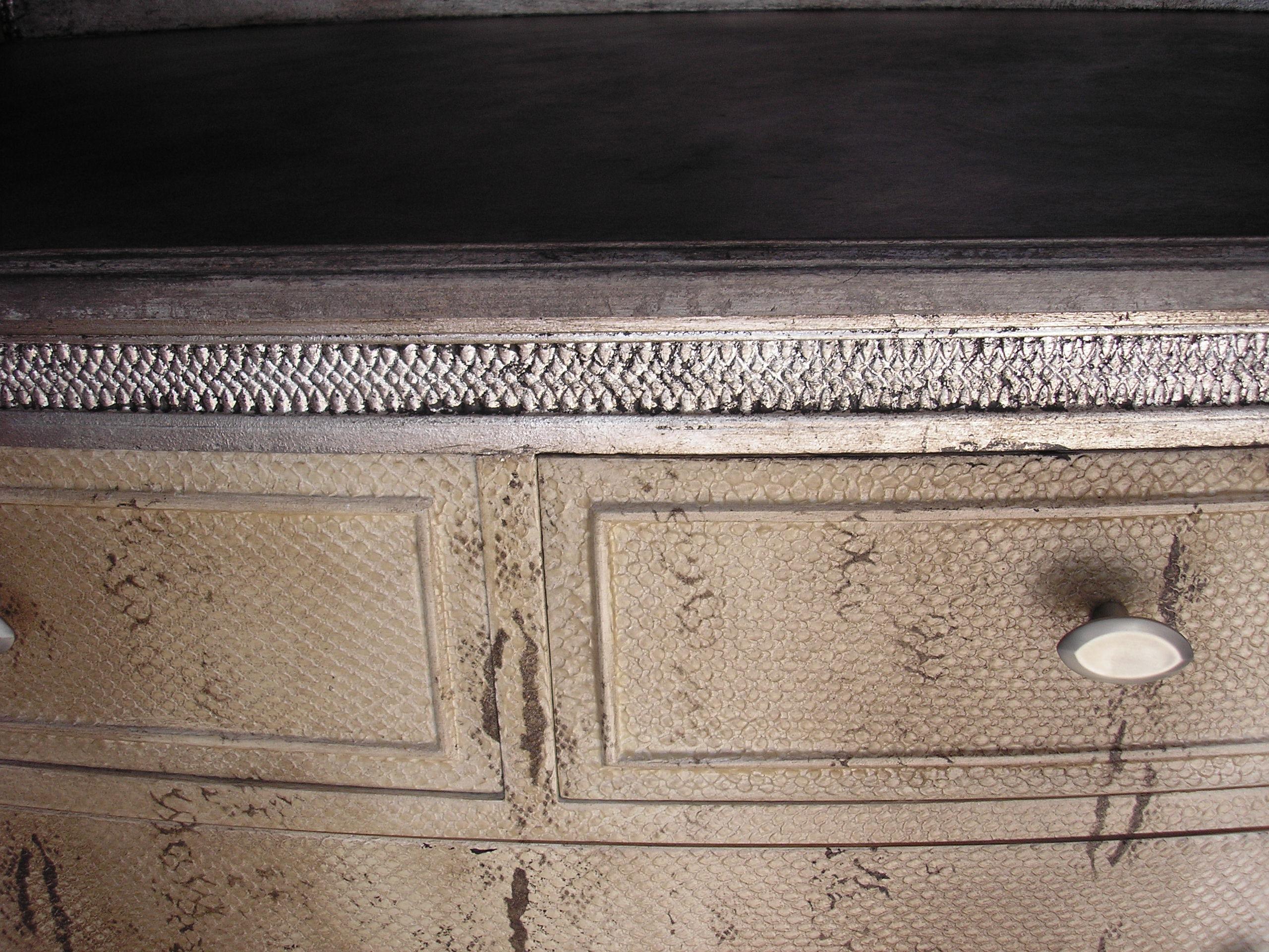 Faux-snakeskin dresser