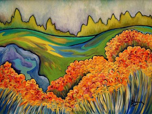 "Elisa Boughner's ""Tangerine Fields"""