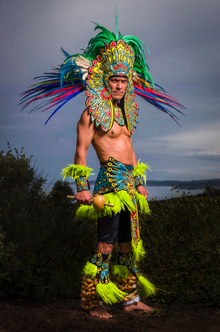 Aztec Warriors at the Chumash Powwow   Malibu, California