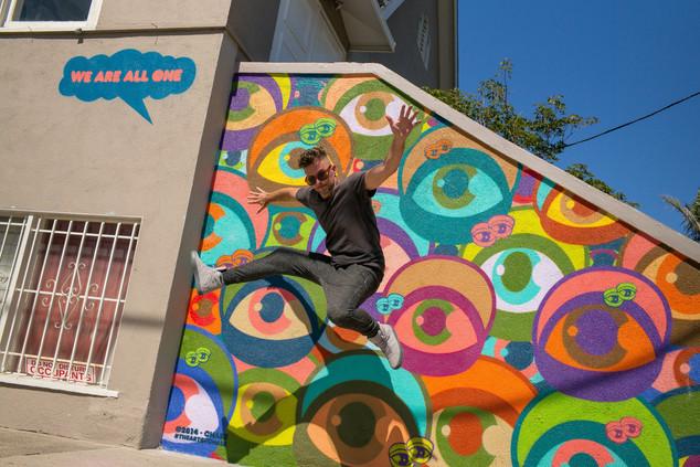 Chase Erachi   Belgian graffiti artist                305, Rose Avenue  Venice Beach  California