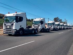 CARGA | Transportes Santa Lucía estrena nuevamente flota Scania