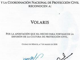 SOCIAL | Volaris, reconocido por la SG por Iniciativa en la Difusión de la Cultura de Protección C