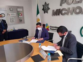 Signan ANERPV y SSP Michoacán acuerdo vs robo de vehículos
