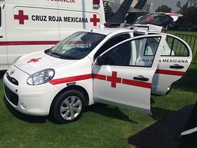 Nissan March contribuye con la Cruz Roja Mexicana