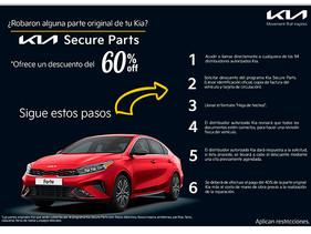 Kia Secure Parts, el programa contra robo de autopartes