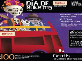 ESTILO   Turibús te invita a ser parte del desfile del Día de Muertos y disfrutar de su recorrido to