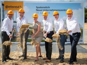 LLANTAS   Continental coloca primera piedra de nueva sede corporativa