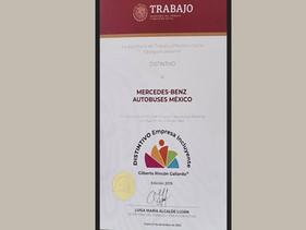 MOVILIDAD | Mercedes-Benz Autobuses recibe distintivo de Empresa Incluyente Gilberto Rincón Gallardo