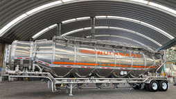 Fruehauf entrega a Bulkmatic un tanque tolva especial de aluminio